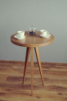 Coffe Table Just Oak by PracowniaEMBE on Etsy Coffe Table, Industrial Design, House Design, Coffee, Interior, Etsy, Furniture, Home Decor, Kaffee