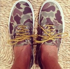 Camo vans!!! Why haven't I seen these before?!?!