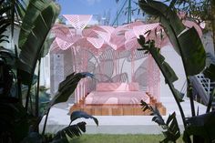 The most Instagrammed piece at Milan Design Week? Le Refuge, a pink, jungle-like daybed designed by Marc Ange at the Wallpaper* Handmade exhibition space.