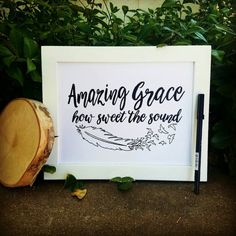 Amazing Grace how sweet the sound sign calligraphy by SaidinWood