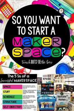 Check out this blog post for ALL the details for stocking, scheduling, organizing, and managing and Elementary Makerspace!