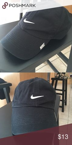 Black nike hat Worn once. Classic Black nike ball cap. White accents. Adjustable. Nike Accessories Hats
