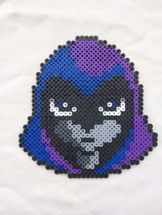 Raven Perler Bead Sprite by PrettyPixelations on Etsy