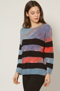 Raquel Allegra Striped Crew Sweater
