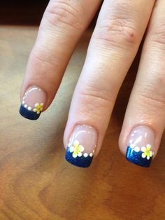 Navy blue and daffodil = relay for life/ support for cancer and in memory of my grandfather who passed away of colon cancer