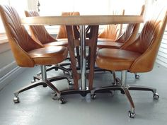 sale chromecraft 70s table chairs dining set by