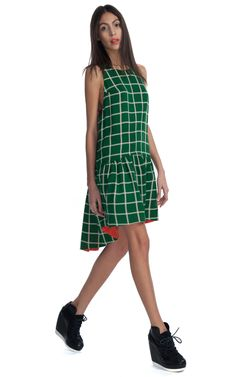 Reversible Window Check Dress by Kenzo for Preorder on Moda Operandi