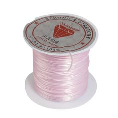 Pink Crystal Elastic Round Line Bobbin Beading Jewelry Making ** Check this awesome product by going to the link at the image. (This is an affiliate link) #BeadingJewelryMaking