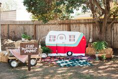 Take the traditional out of camping with this camping themed first birthday party from Melody of Sweet & Saucy Shop.