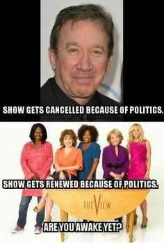ABC cancelled Tim Allen's show, LAST MAN STANDING in an act of censorship because the star and his script express conservative ideas.