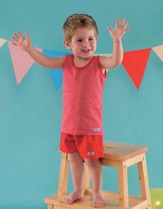 Camiseta sport marinera y pantaloneta niño
