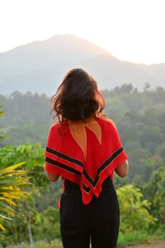 Soaking up rainforest vibes in our red chiffon silk scarf. Red Chiffon, Artisan, Silk, Photo And Video, Instagram, Craftsman, Silk Sarees