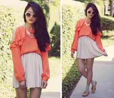 Tangerine cut-out top.