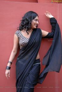 Beautiful Haripriya in Black Saree - High Resolution Posters