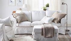 New White Slipcover Ikea Couches Ektorp Sofa White