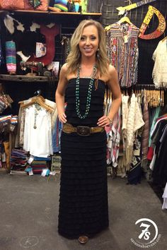 The Cascade – tiered ruffle maxi dress from Savannah Sevens Western Chic