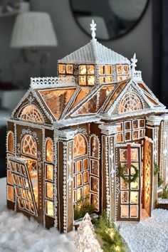 Christmas Gingerbread House, Christmas Town, Merry Christmas To All, Christmas Treats, Christmas Cookies, Gingerbread Houses, Cake Decorating Tips, Cookie Decorating, Ginger House