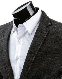 Pánské stylové sako - Sinatra, tmavé Suit Jacket, Blazer, Suits, Jackets, Fashion, Down Jackets, Moda, Fashion Styles, Blazers