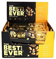 Best Bar Ever Protein Food Bar - Peanut Butter Crunch Flavor. Real Food, Real Delicious. Nothing Artificial, Non-GMO. Box of 12 (40 grams each) *** Learn more by visiting the image link. (This is an affiliate link) #healthysnackprotienpack