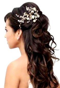 Bride's long curls half up bouffant  bridal hair Toni Kami Wedding Hairstyles ♥ ❷ Wedding hairstyle ideas  hair jewelry