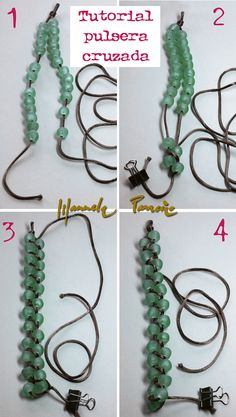 tutorial pulsera cruzada | Flickr - Photo Sharing!