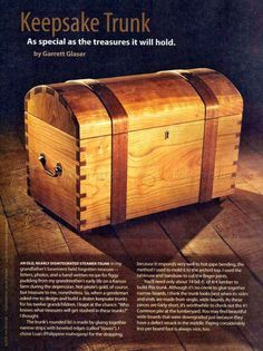 #423 Keepsake Trunk Plans - Other Woodworking Plans and Projects
