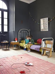 dark walls in a kid's room