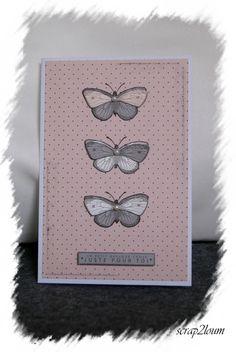 Carte de Scrap2loum:  20-02-2016 Mini Albums, Butterflies, Scrapbooking, Feminine, Tags, Inspiration, Birthdays, Women's, Biblical Inspiration