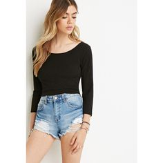 Forever 21 Classic Ribbed Crop Top ($11) ❤ liked on Polyvore