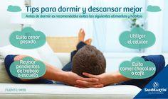 Dormir y descansar brinda resultados muy positivos para la salud, ya que provee tu cuerpo de energía, mejora el sistema inmunológico y además mejora tu estado de ánimo. Te compartimos algunas recomendaciones para lograr dormir mejor.