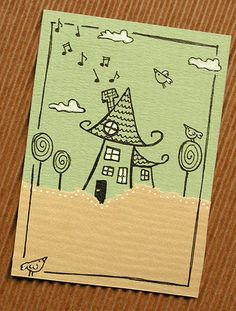 ATC_Little Houses IV (5) by pasiakowe_atc, via Flickr