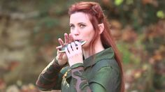 The Hobbit - Misty Mountains Cold on STL Ocarina/////// Playing the greatest song ever, while cosplaying Tauriel- Most Awesome Video