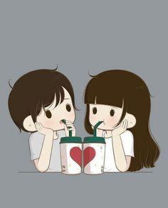 Love Cartoon Couple, Cute Couple Art, Cute Cartoon Girl, Cute Couple Pictures, Cartoon Pics, Bear Cartoon, Cute Love Wallpapers, Cute Couple Wallpaper, Cute Cartoon Wallpapers
