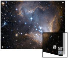 Small Magellanic Cloud Art on Acrylic by Stocktrek Images at Art.com