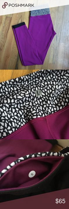 "Lululemon Pants - Reversible - Size 8 Lululemon Pants - Reversible - Size 8  Black one one side and more of a fuchsia color on the other.   Pants have been tailored by Lululemon to fit my height 5'6"".   Some piling in the usual spots and a little on the butt part of the black side. lululemon athletica Pants Leggings"
