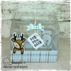 Projekt Cupcake: See-thru Box - For you Deer