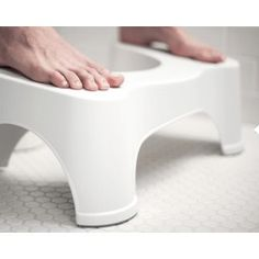 The Grommet team discovers Squatty Potty toilet stool. Helping colon health with home remedies for constipation: a squatting stool.