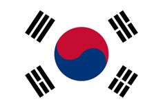 Free South Korea flag graphics, vectors, and printable PDF files. Get the free downloads at http://flaglane.com/download/south-korean-flag/