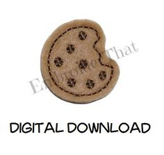 INSTANT DOWNLOAD Mini Cookie Feltie Embroidery by EmbroiderThat, $3.99