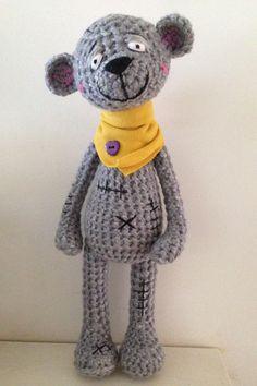 Crochet friend  www.facebook.com/teddieswithlove Crochet Doll Pattern, Easy Crochet Patterns, Amigurumi Patterns, Crochet Designs, Crochet Dolls, Doll Patterns, Crochet Teddy, Crochet Bear, Love Crochet