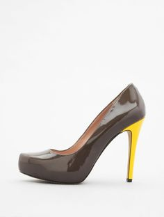 Granite & lemon-hued Vince Camuto Deric pumps -- if only i wore heels *sigh*