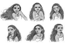 CosmoAnimato - More Moana facial expressions.