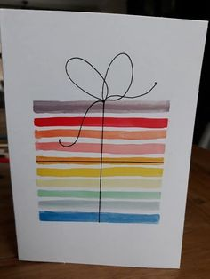 Homemade Birthday Cards for Grandpa Best Of Easy Kids Diy Birthday Card . - Homemade Birthday Cards for Grandpa Best Of Easy Kids Diy Birthday Card … - Watercolor Birthday Cards, Birthday Card Drawing, Watercolor Cards, Easy Watercolor, Watercolor Trees, Watercolour Tutorials, Watercolor Animals, Watercolor Techniques, Watercolor Background