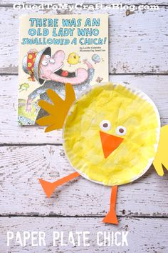 Paper Plate Chick - Kid Craft Idea