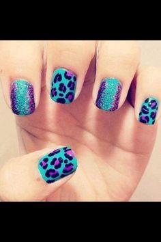 Leopard print nails cute nails pretty leopard nail art leopard nails by rosemary Spring Nail Art, Nail Designs Spring, Cute Nail Designs, Acrylic Nail Designs, Spring Nails, Art Designs, Nice Designs, Design Ideas, Acrylic Nails