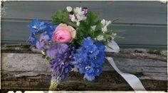 Blues for a bride with scented geranium