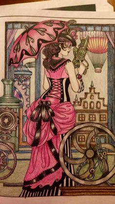 Coloured by Patti Kondus. Steampunk Design by Marty Noble.