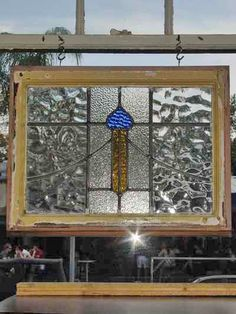 vintage tulip stained glass panel - Google Search