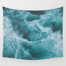 Wall Tapestry featuring Electric Ocean by Luke Gram