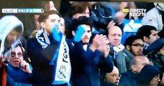 Iniesta fue cambiado y aplaudido en el Bernabeu. Noviembre 21, 2015.